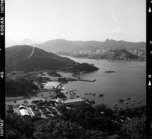 Small town on ocean coast