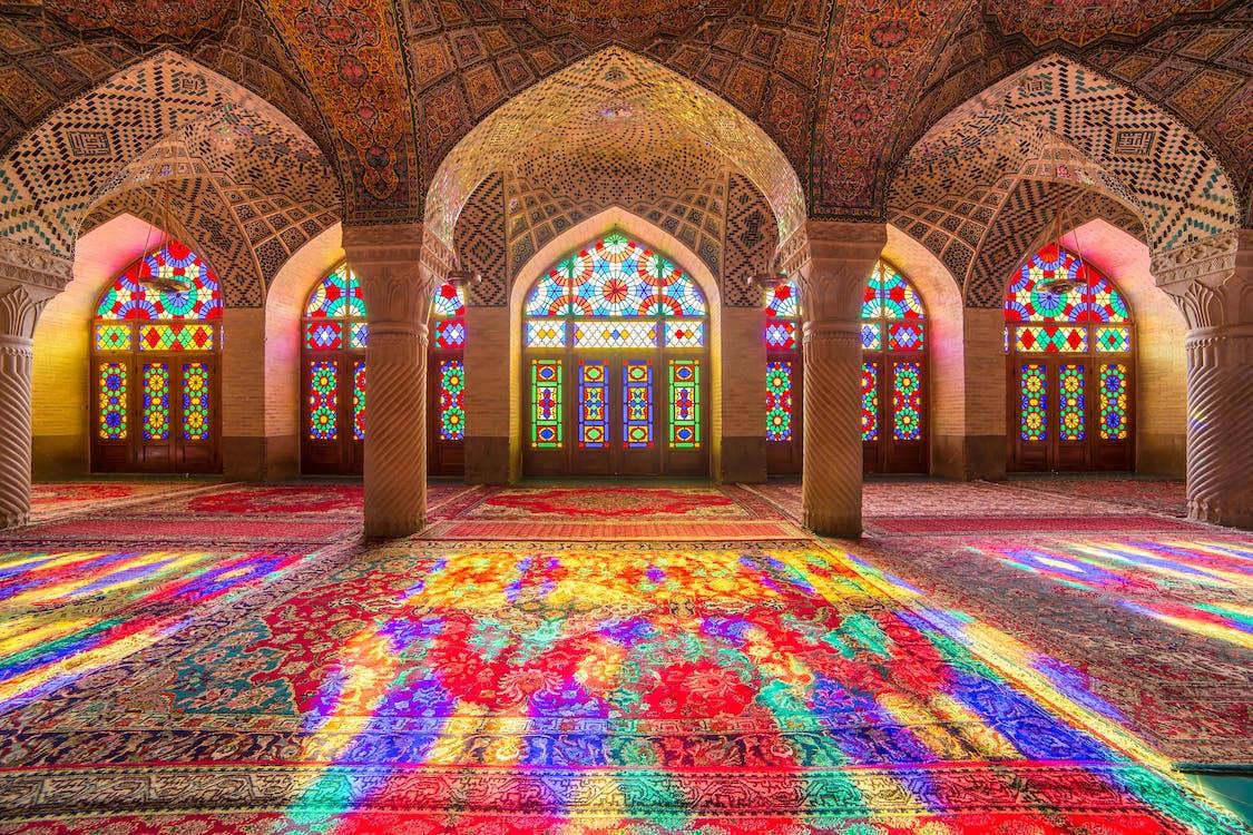 Free stock photo of Nasir ol Molk Mosque, Pink Mosque, shiraz iran