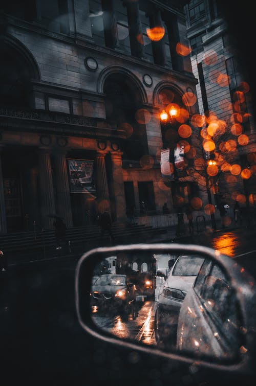 Free stock photo of bokeh, car window, cars, chicago
