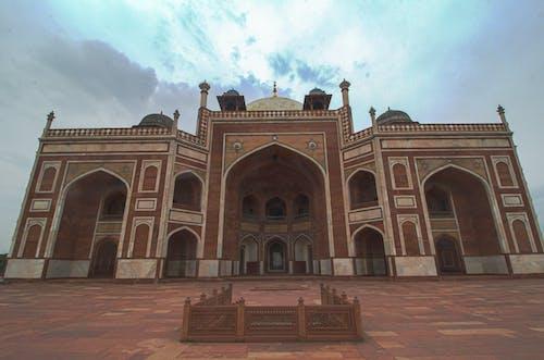 Low Angle Shot of Gateway to Taj Mahal