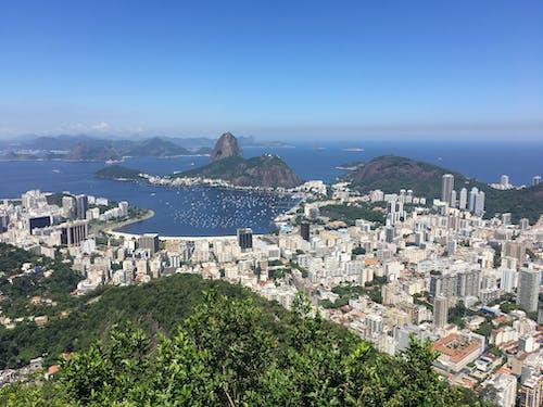 Fotos de stock gratuitas de Brasil, buen tiempo, cristo el redentor, embarcación de vela
