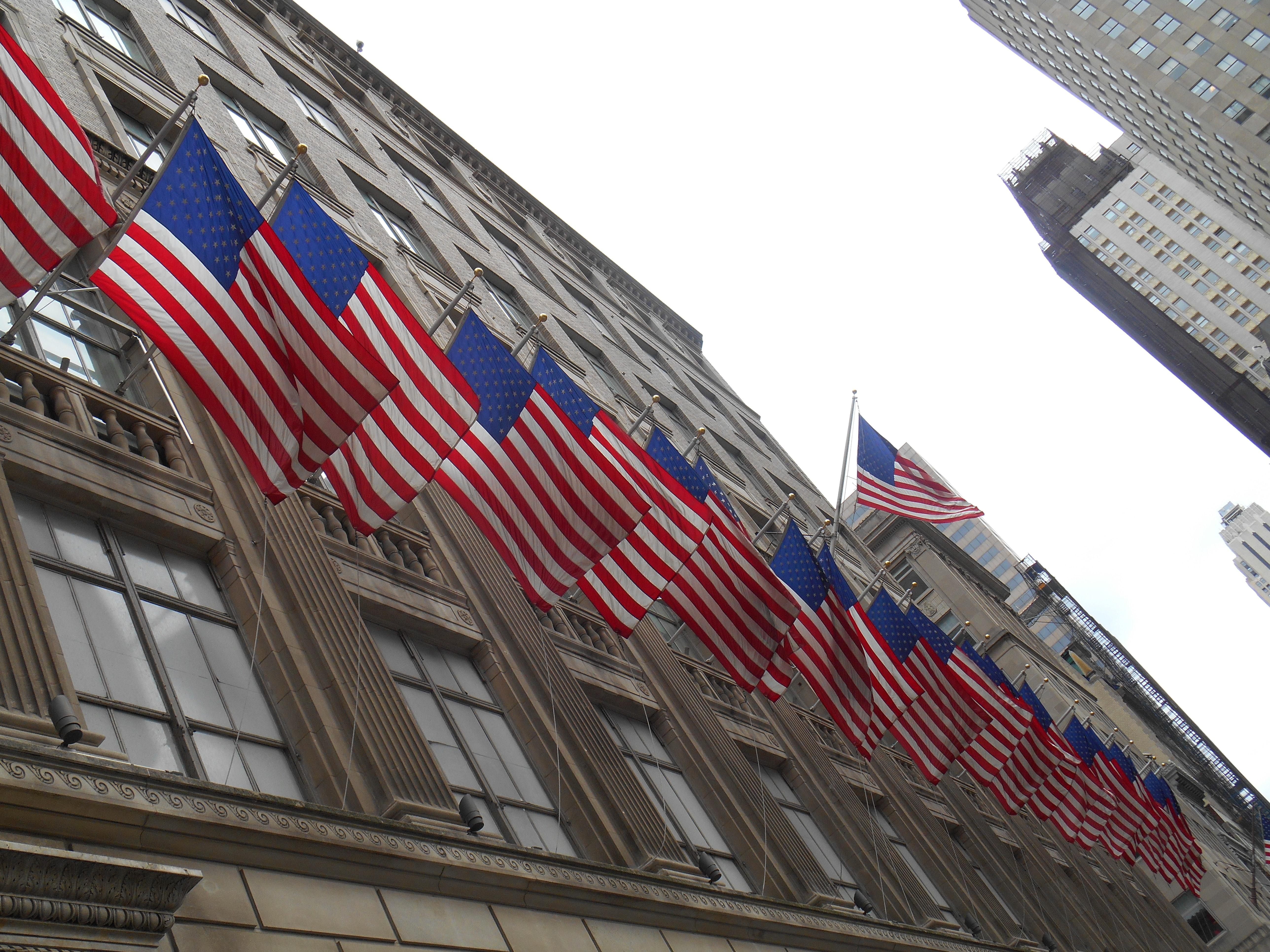 アメリカの国旗 ニューヨーク市の壁紙 米国の無料の写真素材