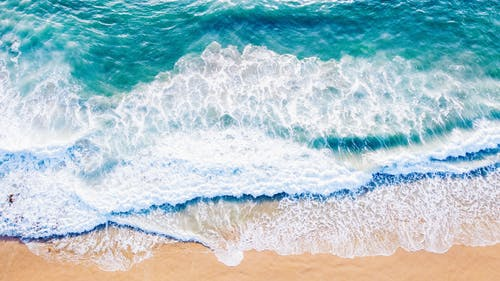 Big Waves Rushing To Shore