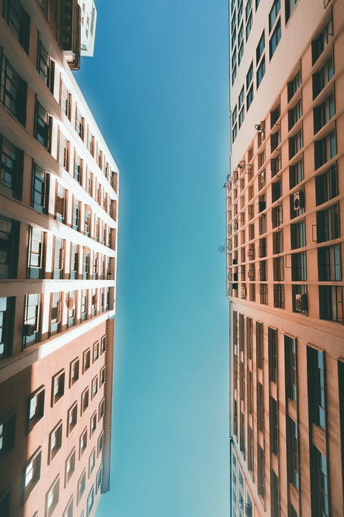Worm-view Photography of Two High Rise Buildings