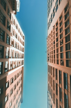 Free stock photo of sky, buildings, pattern, glass