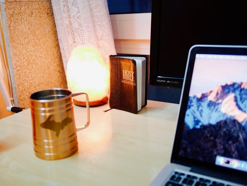 Free stock photo of bible, desk, holy bible, lamp