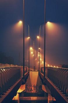 Streetlights by night