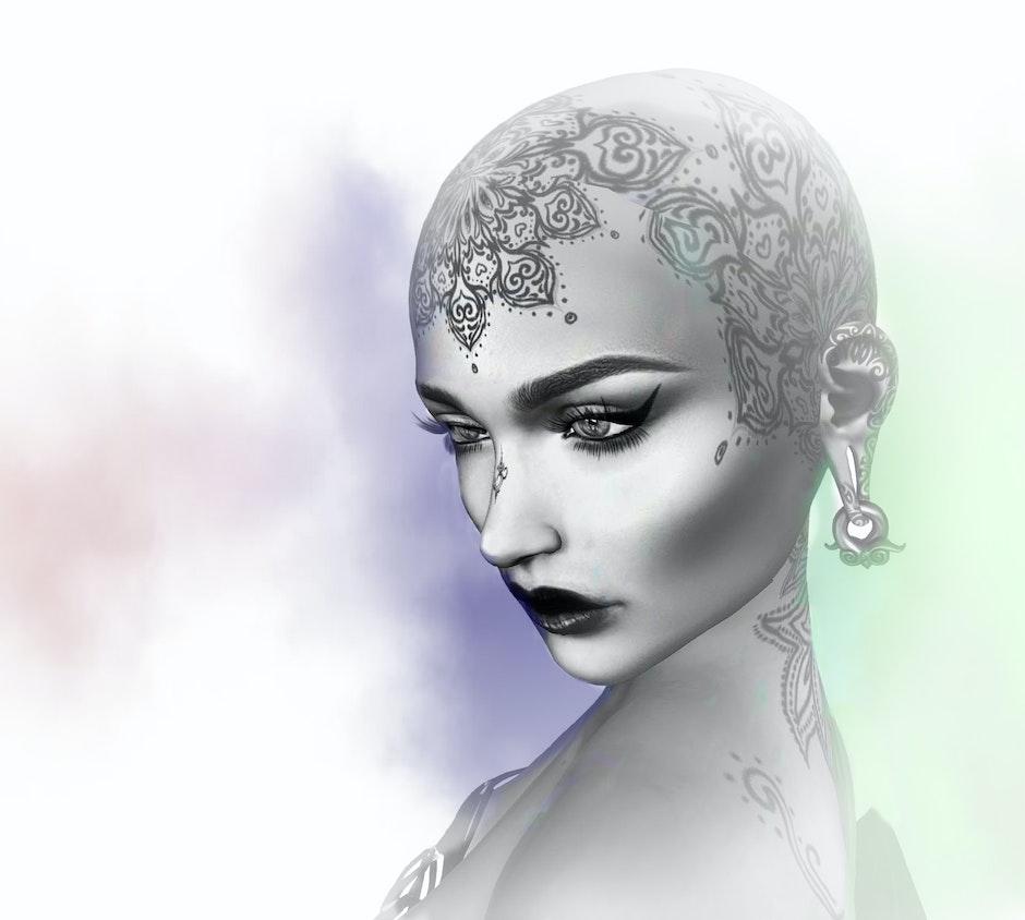tattoo, woman