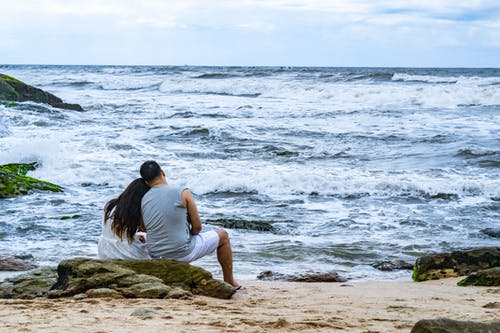 Foto profissional grátis de amante da praia, amor, casal, casal bonito