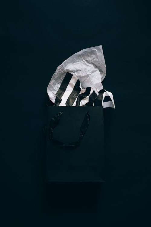 Shopping Bag With Tissue Paper