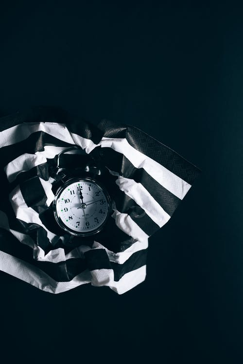Textile Rayé Noir Et Blanc