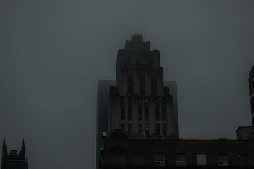Free stock photo of big city, city photography, foggy