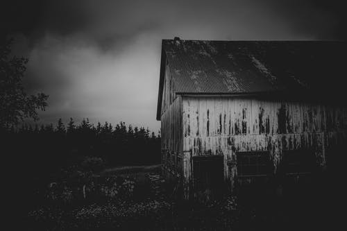 Free stock photo of barn, clouds sky, cloudy