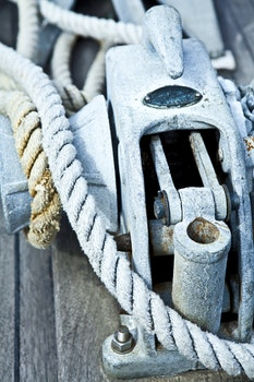 Free stock photo of blue, metal, rope, wooden