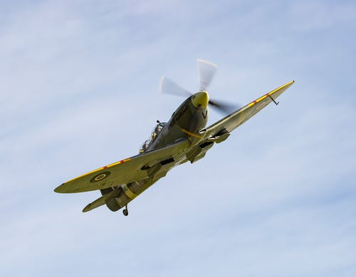 White and Yellow Jet Plane in Mid Air