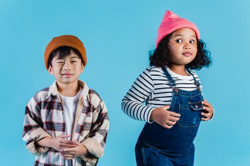 Children Wearing Casual Outfiits