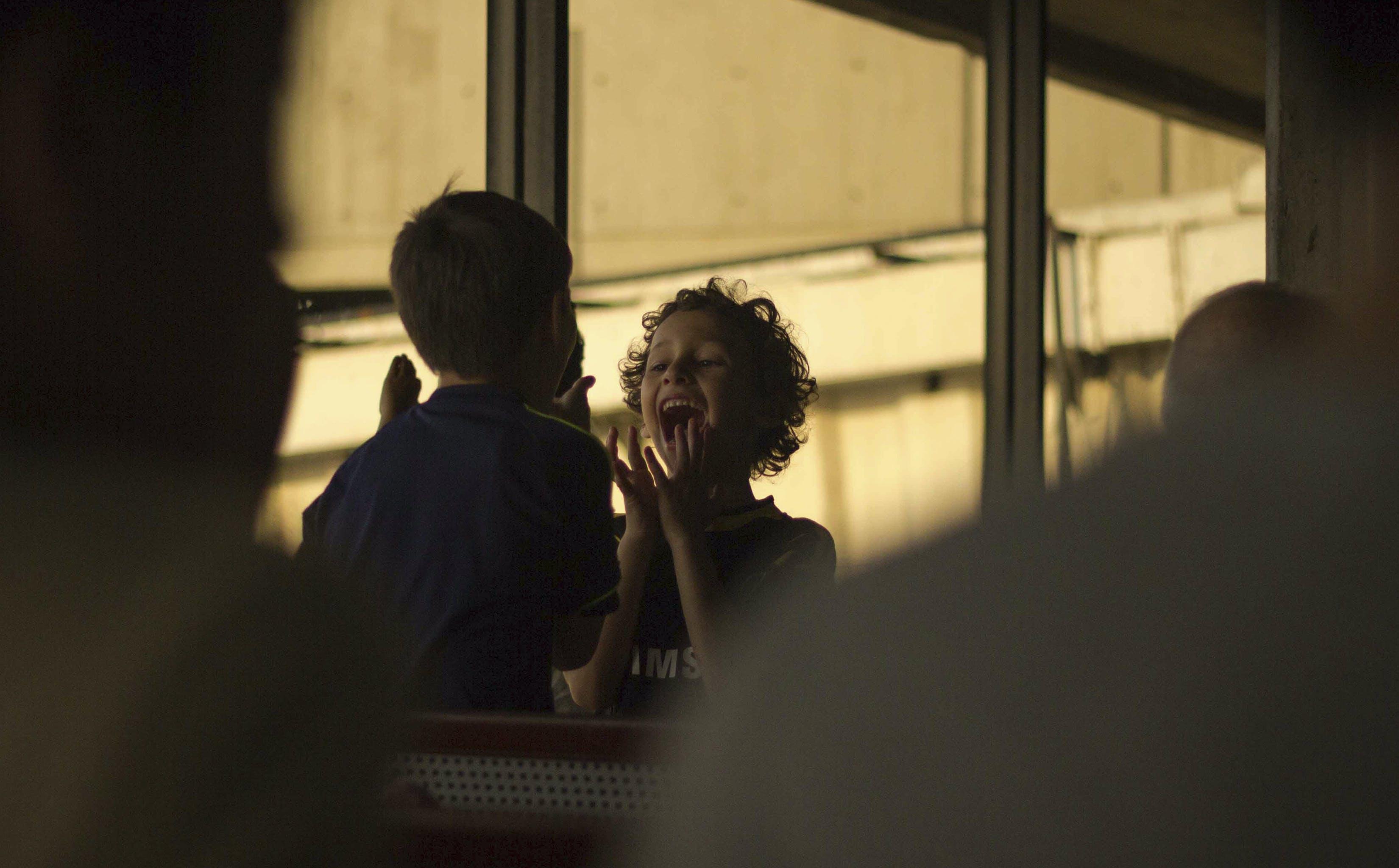 of airport, child, children, emotional