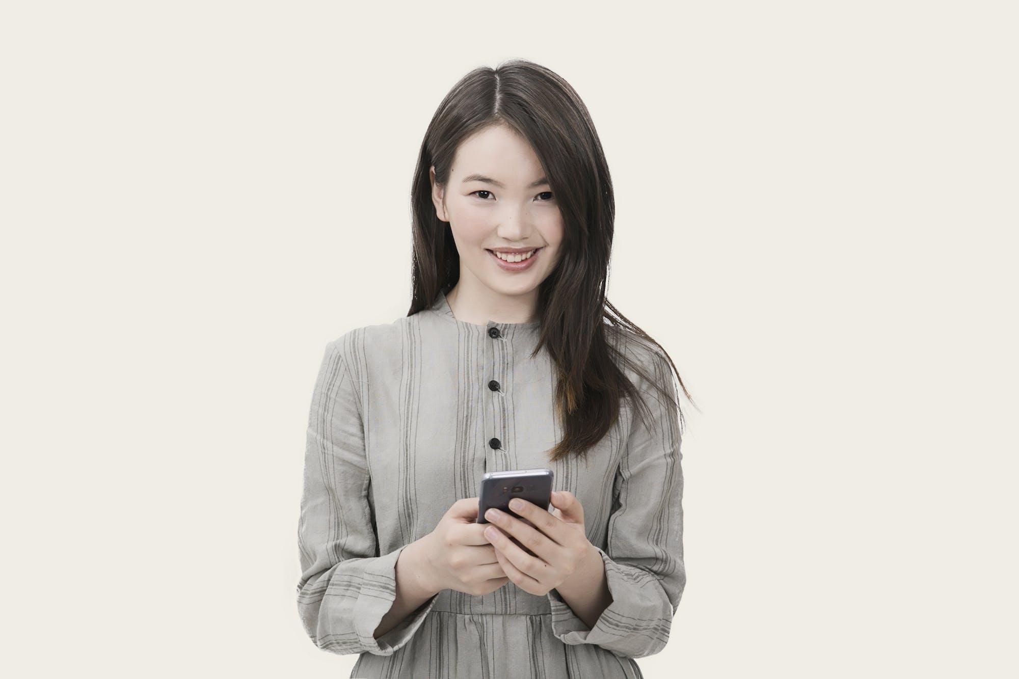 asijská holka, atraktivní, dáma