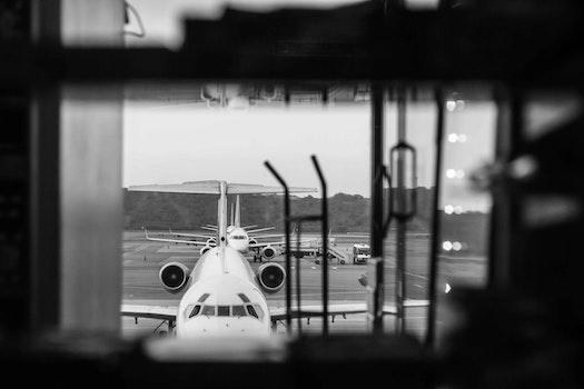 Free stock photo of airport, airplane, black, sad