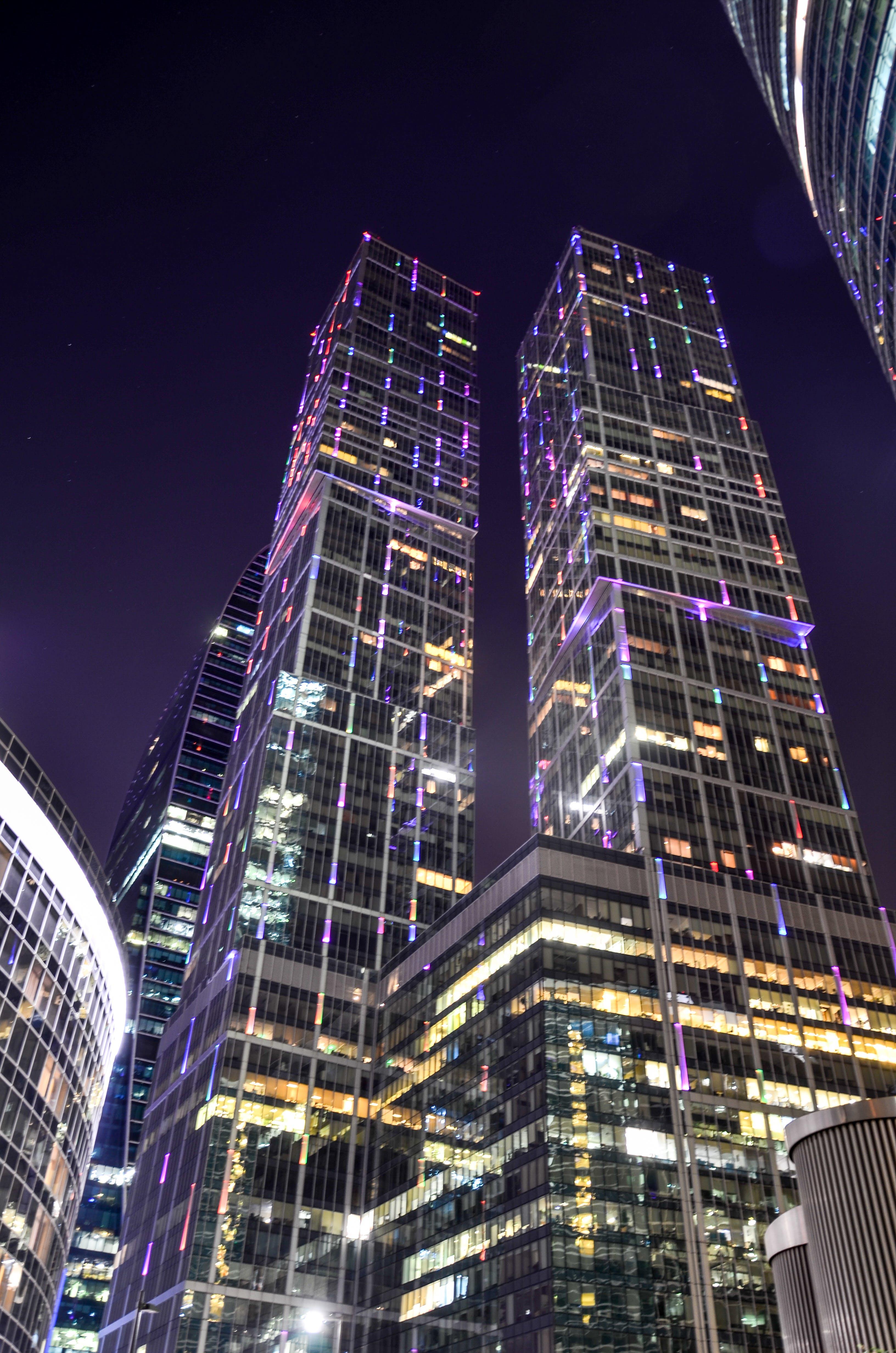 Ảnh lưu trữ miễn phí về ánh đèn thành phố, bầu trời, các tòa nhà, cảnh quan thành phố