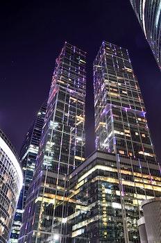 Free stock photo of city, sky, night, buildings