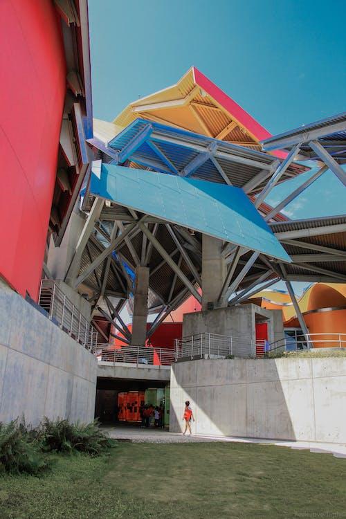 Modern architecture of urban building under sunlight