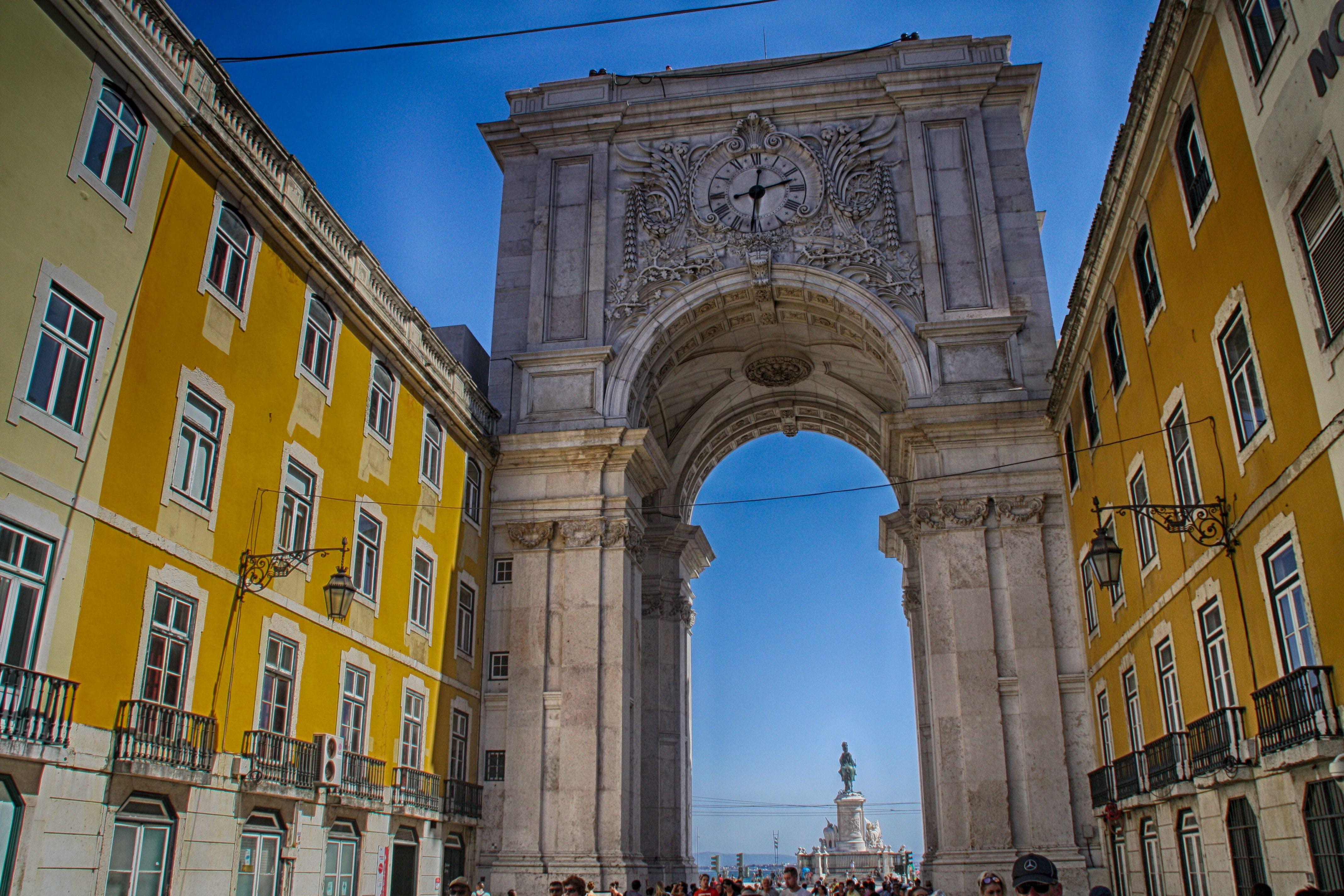 Free stock photo of arc, Lisbon, portugal