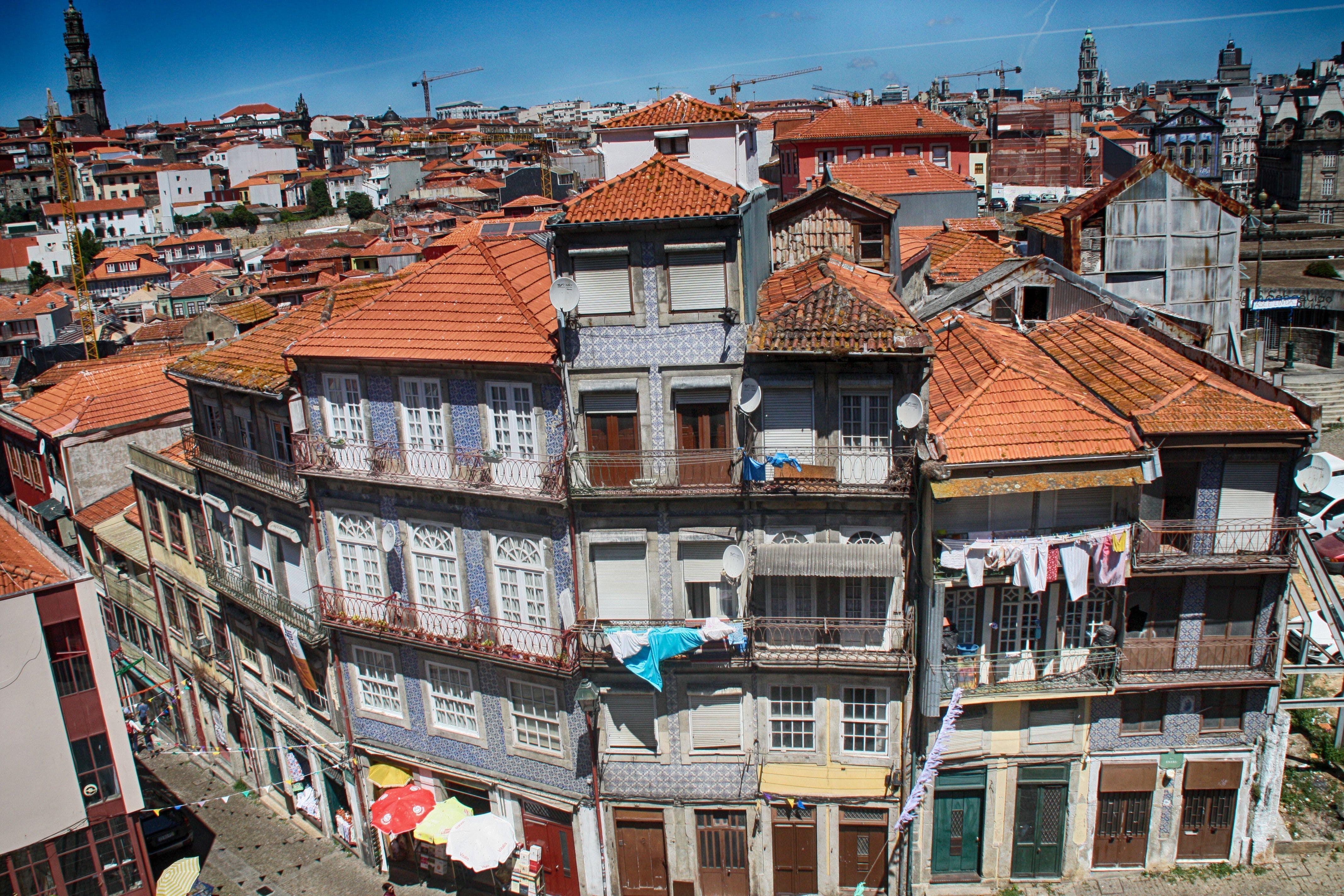 Free stock photo of houses, oporto, portugal
