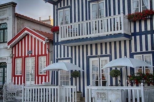 Gratis arkivbilde med aveiro, fargerike hus, portugal