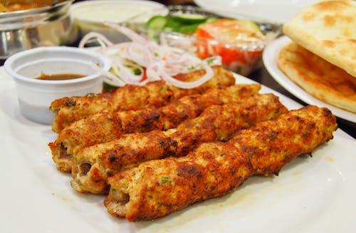 Free stock photo of gola kabab, kebab, reshmi kabab