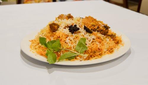 Free stock photo of asian food, biryani, biryani plate