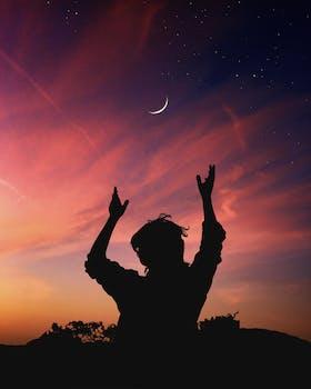 Free stock photo of dawn, sky, man, person
