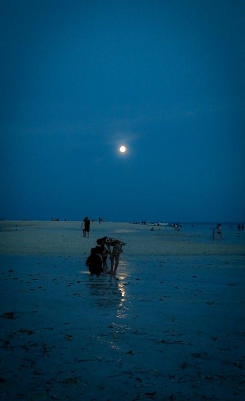 Free stock photo of dark and moody, full moon, moon over the sea