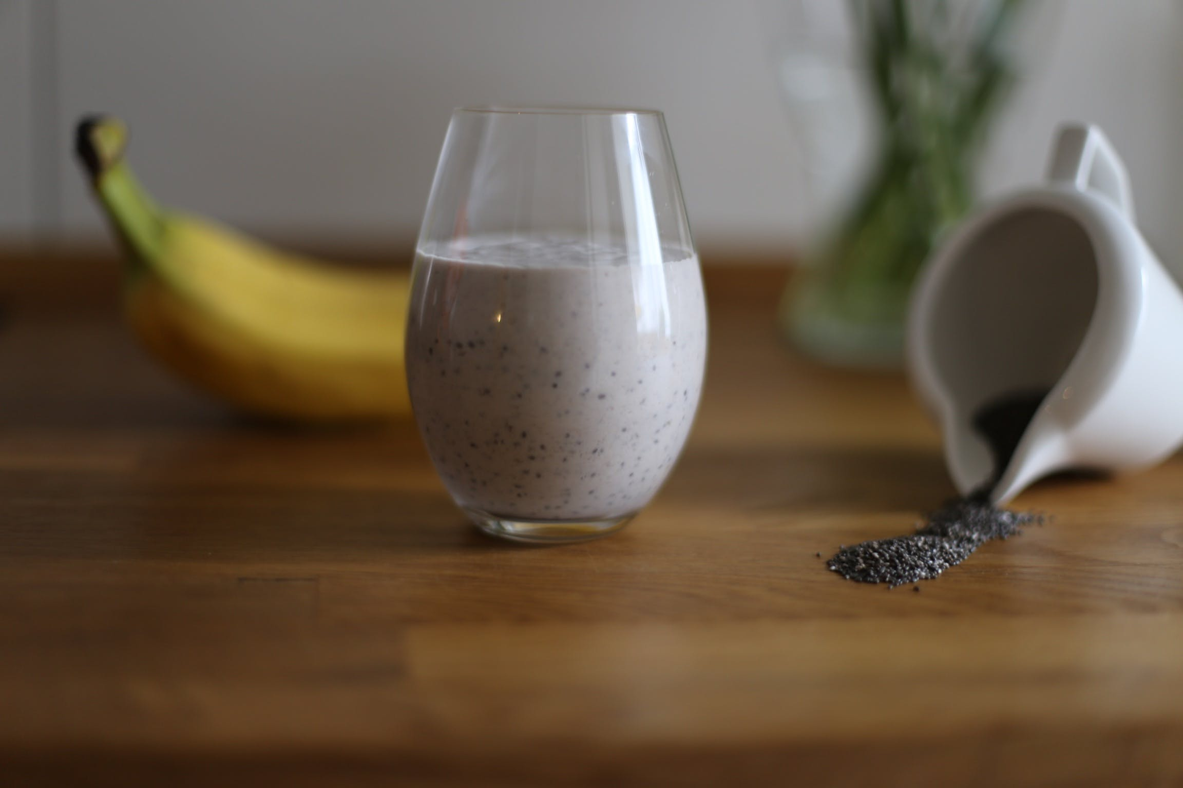 Chia Drink in Drinking Glass