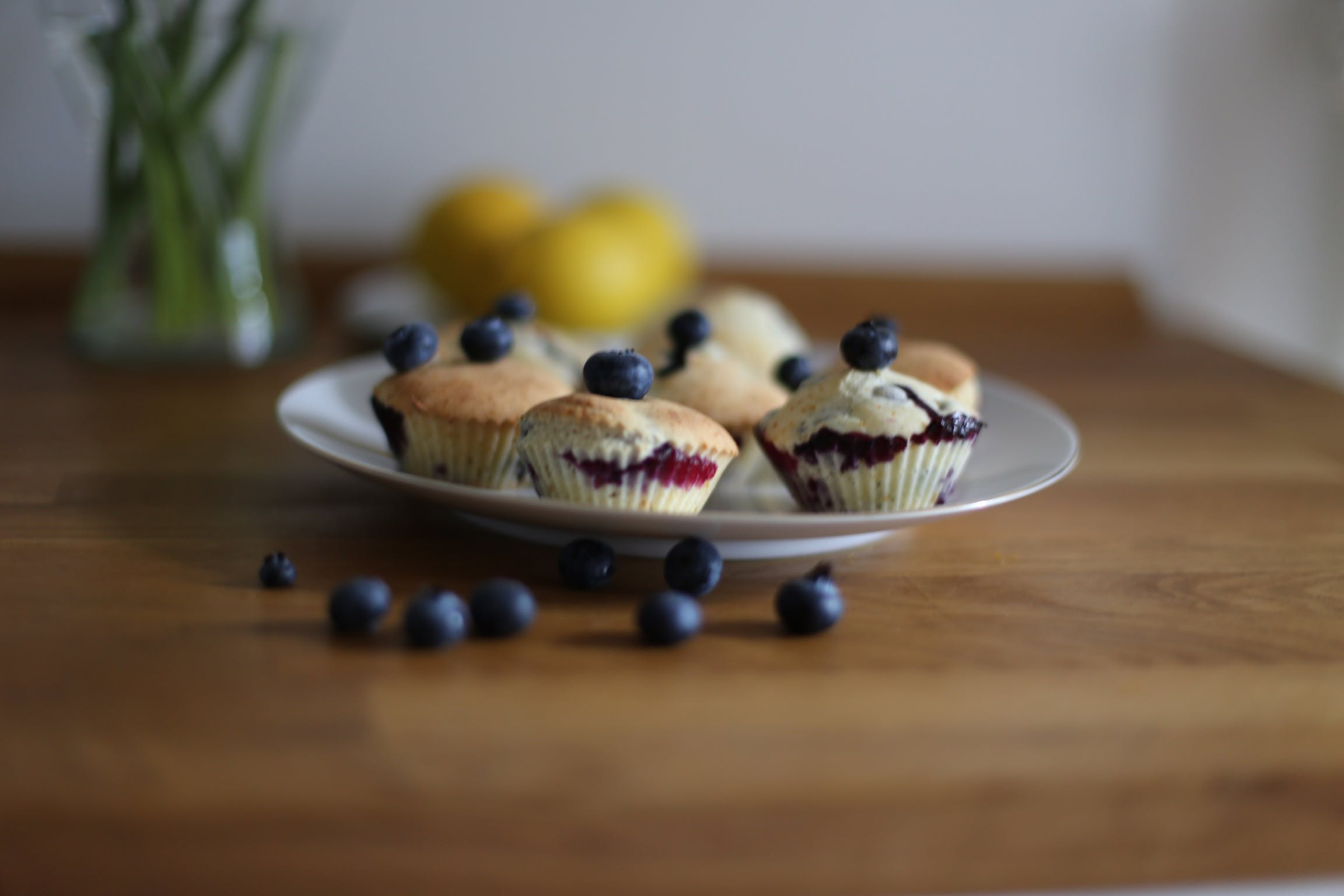 Free stock photo of blueberries, blueberry, blueberry muffins, cupcake