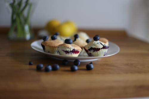 Free stock photo of blueberries, blueberry, blueberry muffins