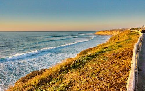 Gratis arkivbilde med bølger, daggry, gress, hav