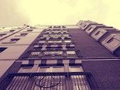 sky, building, windows