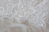 dress, white, macro