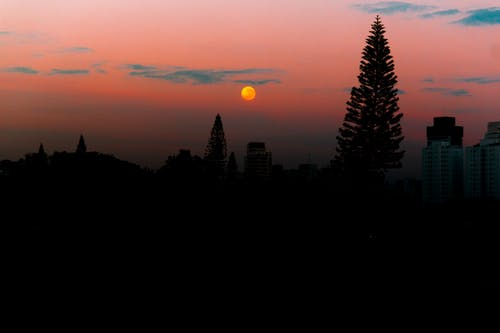 Gratis stockfoto met #moon #nature #sunrise #day #sky