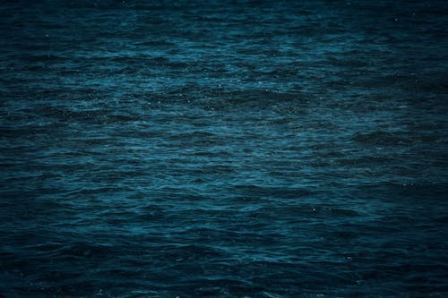 Rippling water surface of blue sea