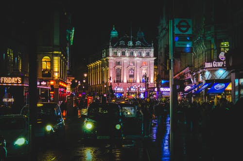 Kostenloses Stock Foto zu beleuchtung, london, nacht, nachtleben