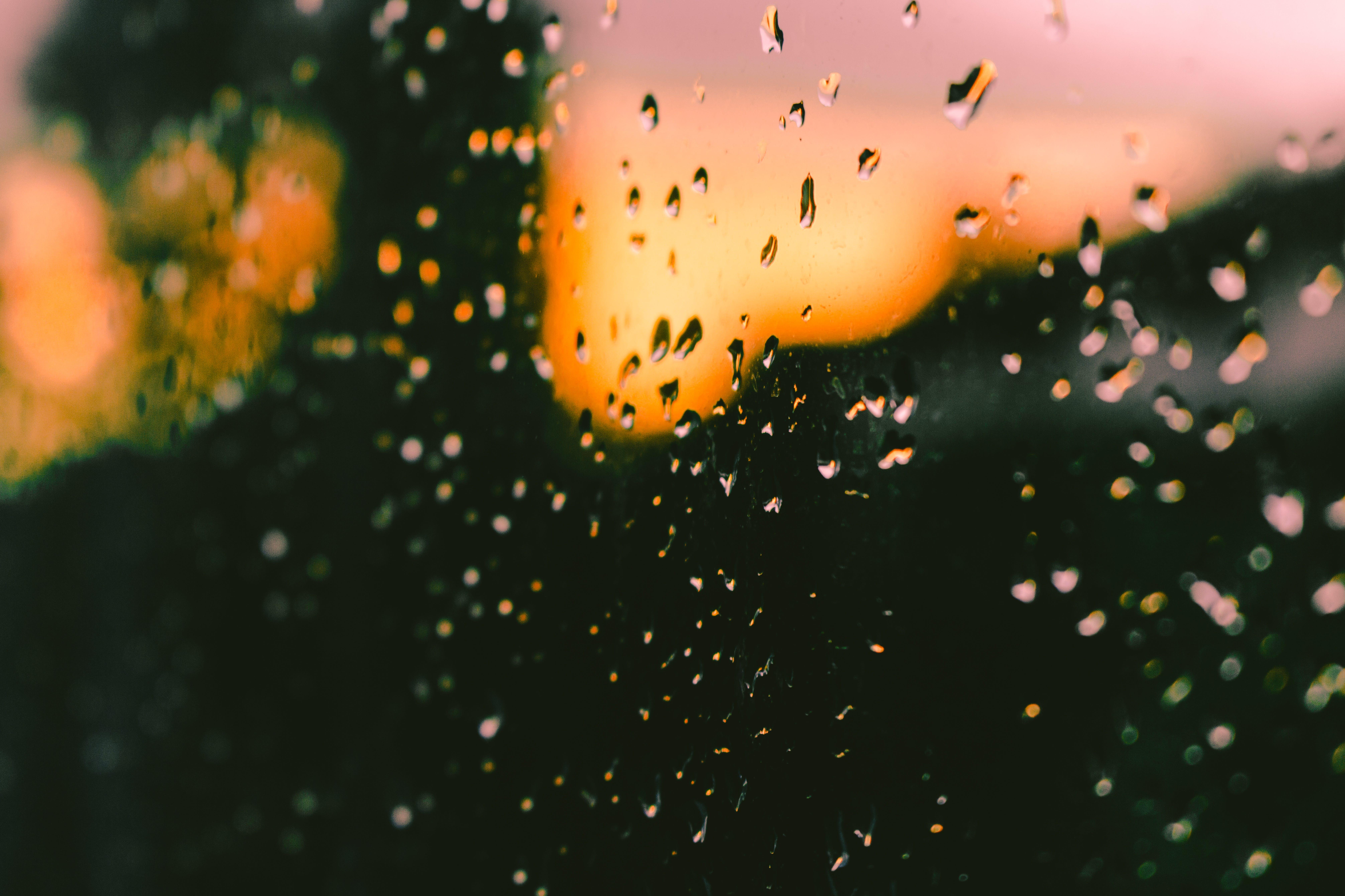 Free stock photo of colors, raindrop, summer, sunset