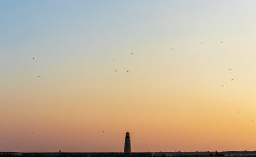 Silhouette of Lighthouse during Sunset