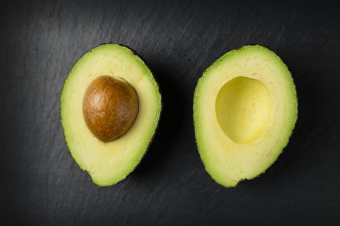 avocado, close-up, detailopname