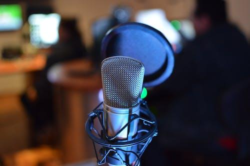 A Close-Up Shot of a Microphone