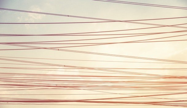 Free stock photo of sunset, vintage, line, wire