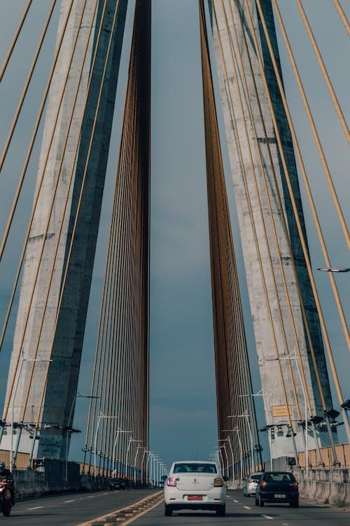 Brown and Gray Bridge Under Blue Sky