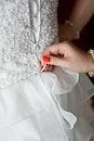 dress, wedding, lace up