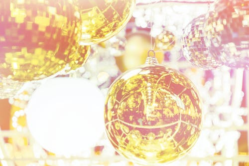Free stock photo of christmas ball, light reflections, new year, no person